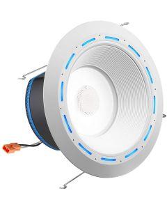 Juno Lighting J6AI DB 10LM TUWH 90CRI 120 WWH JBL SPKR 6 Inch LED Retrofit Smart Home Downlight Baffle Trim JBL Speaker - Works With Alexa