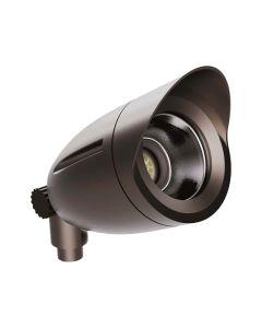 NaturaLED LED-FXBFS20/40/850/BZ-KNC  DLC Listed 21 Watt LED Bullet Flood Light 1/2-Inch Knuckle Mount 5000K Bronze 120-277V - 150W Equivalent