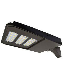 NaturaLED  LED-FXSAL240/50K/BK/3S DLC Premium Listed 240 Watt LED Slim Area Light Fixture 120-277V 5000K Dimmable - Replaces 750-1000W HID