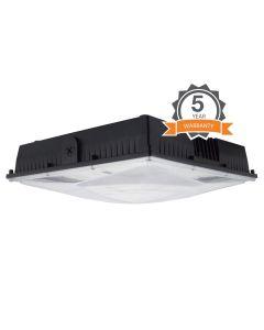NaturaLED LED-FXSCM100 DLC Premium Listed 100 Watt LED Slim Canopy Light Fixture Dimmable 120-277V