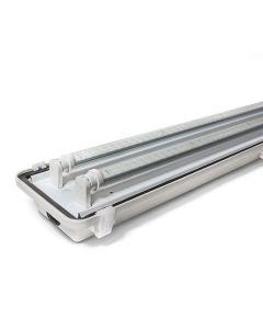 EPCO G4LED-FX-S4151-LMS 51 Watt LED Linear Vaportight Fixture Stainless Steel Latch