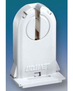 Leviton 13660-SWP Tall Slide-On Unshunted Non Shunt Locking Socket Fluorescent G13 Bi-Pin T8 Lamp Holder