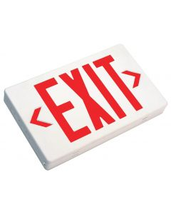Mule Lighting MXARU LED Exit Sign AC Only Thermoplastic Indoor Damp Location 120/277 Volt Red LED