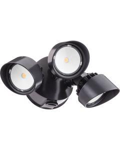 Main Image Lithonia Lighting OLF 3RH Series 3 Head 36 Watt Outdoor LED Round Security Flood Light Fixture with Dusk to Dawn Photocell Option