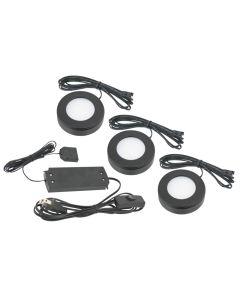 American Lighting OMNI-3KIT 3.2 Watt Omni LED 3-Puck Kit 12V 2700K Dimmable