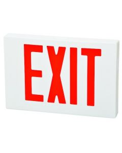 Fulham Lighting FHEX21WREM Firehorse LED Emergency Exit Sign Thin Profile with Battery Backup Red Letters