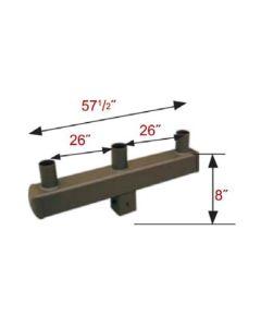 Maxlite S4VT3S18BZ 4-Inch Triple Square Vertical Tenon 180 Degree Mounting Accessory