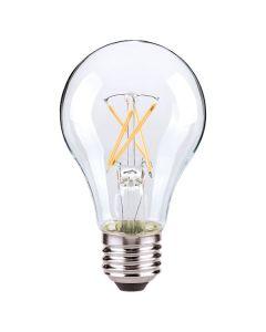 Satco Lighting S9879 8.5 Watt A19 Omni-directional Screw-In LED Filament Light Bulb Lamp E26 Medium Base Dimmable 2700K