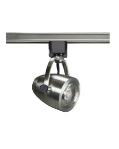 Satco Lighting TH417 12 Watt LED Track Head Light Fixture Brushed Nickel Finish 36 Degree Beam Angle Dimmable 3000k