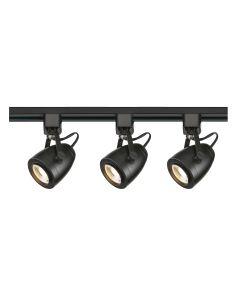 Satco Lighting TK414 12 Watt LED 3 Heads Pinch Back Track Lighting Kit 36 Degree Black Finish Dimmable 3000K