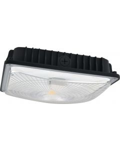 NaturaLED LED-FXSCM28 DLC 4.0 Premium Listed 28 Watt LED Slim Canopy Fixture Replaces 150W HID