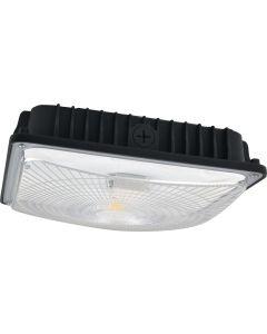 NaturaLED LED-FXSCM42/40K/BK-SEN DLC 4.0 Premium Listed 42 Watt LED Slim Canopy Fixture 4000K - Microwave Motion Sensor Included
