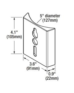 Sylvania 60128 AREAFLD1A/RNDADAPT/BZ Round Pole Adapter for LED Area Light Fixture Compatible with Pole Mount - 24 Pack