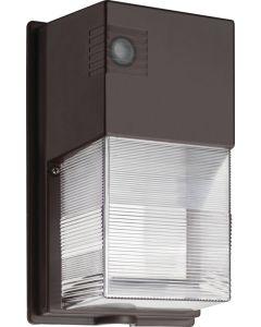 Lithonia Lighting TWS LED P1 50K MVOLT PE DDB M4 25 Watt DLC Qualified Dusk to Dawn LED Wallpack Fixture 5000K