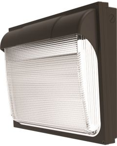 Main Image Lithonia Lighting OLWP LED P1 40K 120 PE BZ M4 20 Watt Outdoor LED Wallpack Light Fixture with Button Photocell 120V 4000K