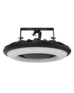 SLG Lighting HFO G1 DLC Listed LED Disc-Shape Black Round UFO High Bay Light Fixture
