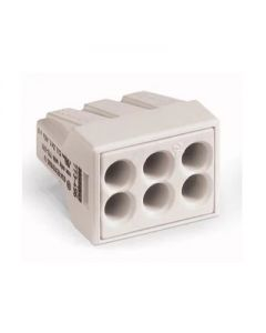 WAGO 773-496 WALL-NUTS 6 Conductor Push Wire Light Gray Face Connector for Junction Boxes - 100 PCS