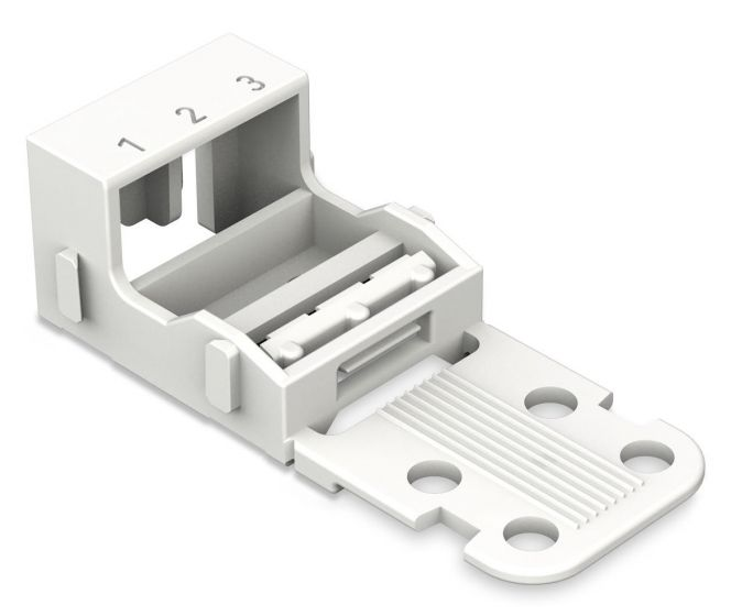 WAGO 221-503 Universal 3-Wire Mounting Carrier for 221 Series 4 mm² Screw Mount Connectors 12 AWG - 100 PCS
