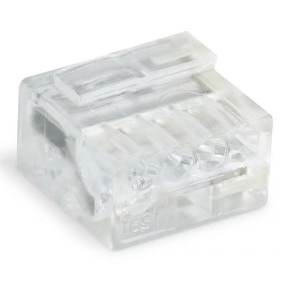 WAGO 243-144 Micro Push Wire 4 Conductor Transparent Connector 243 Series - 100 PCS
