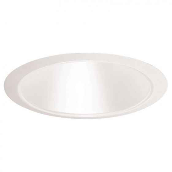 Juno Lighting 27 WWH 6 Inch Tapered Cone, White Cone with White Ring