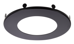 Sylvania MD4TRIMBLK RoHS Certified Trim Ring Accessory for 4-Inch Microdisk