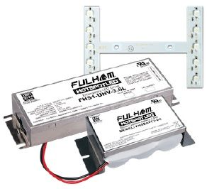 Fulham Lighting FHSKITT08LHF 8 Watt Emergency Lighting Retrofit Kit 1000 Lumens 175 Minute Run time F7 Battery