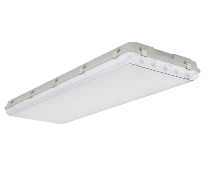 Image 1 Louvers International ADV4W-4T5-20 Advantage 4 Ft T5 4 Lamp Wide Body Vaportight Fixture NSF Approved IP66 Rated