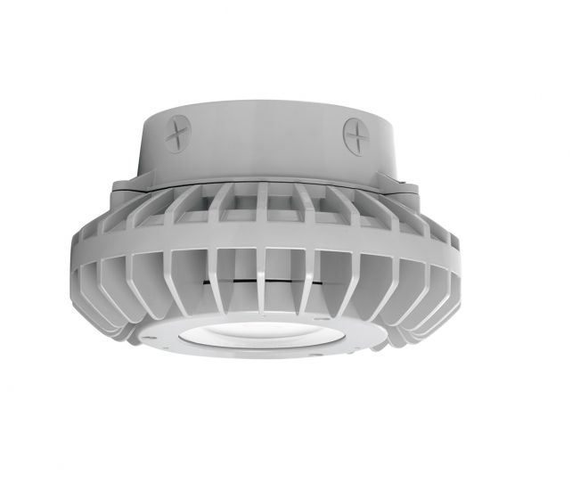 Flat Lens Image RAB Lighting HAZXLED42 42W LED Ceiling Mount Hazardous Location Fixture 5100K