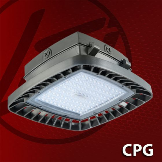 LSI Industries CPG DLC Listed LED Compact Parking Garage Canopy Light Fixture Dimmable 120V-277V 5000K