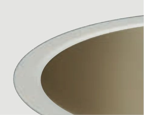 """Product Image CREE KR6T-SSGCG-WF Trim Finish Color For 6"""" KR Series Downlights Soft Satin Glow Champagne Gold White Flange"""