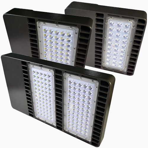 Image 2 Paclights F2SB080 80 Watt LED Area Light Fixture DLC Listed 5000K 100-277V