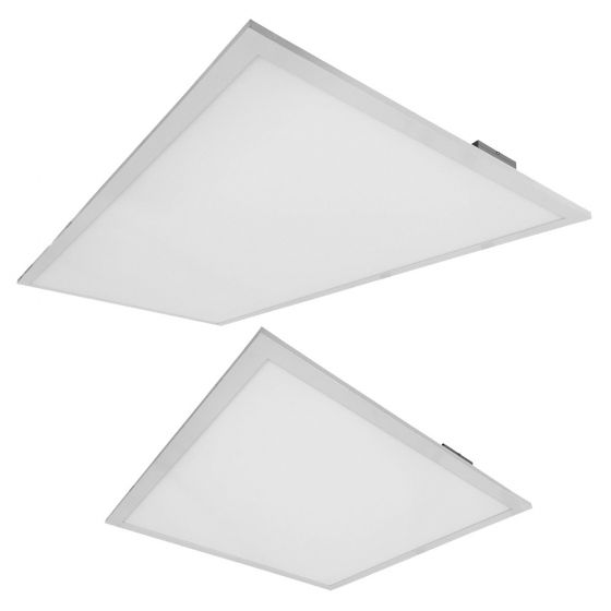 PacLights FPAN24D46 DLC Qualified 46 Watt 2x4 Foot LED Flat Panel Recessed Lighting Fixture, AC100-277V, Dimmable, 7 Years Warranty