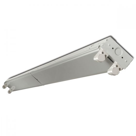 Howard Lighting FSA402LT8 4 Foot LED Ready Strip for Two Lamps - Lamps Not Included