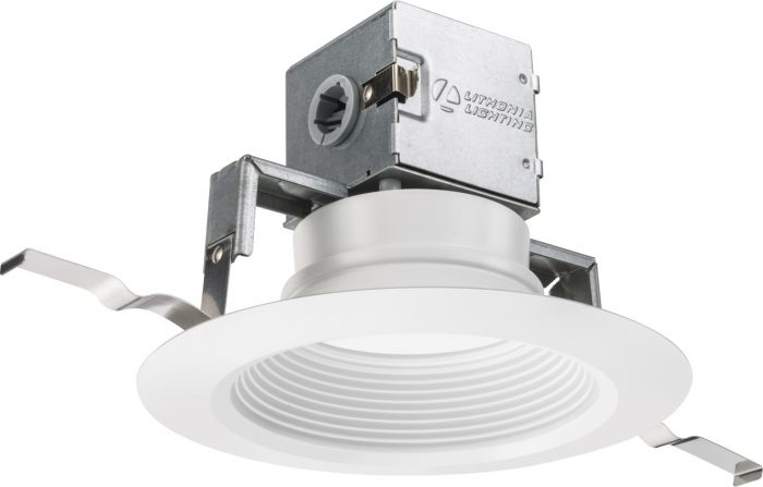 Lithonia Lighting 6JBK RD 30K 90CRI MW M6 6 Inch White Integrated Direct Wire LED Recessed Canless Downlight Kit