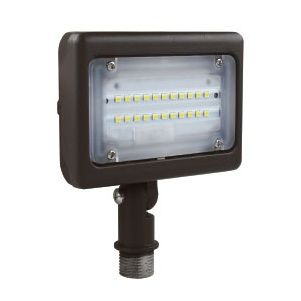 NaturaLED LED-FXFDL15 DLC Premium Listed 15-Watt LED Compact Floodlight Fixture with Adjustable Knuckle 100W Equivalent