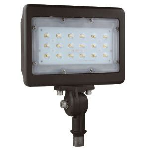 NaturaLED LED-FXFDL30 DLC Premium Listed 30-Watt LED Compact Floodlight Fixture with Adjustable Knuckle 175W Equivalent