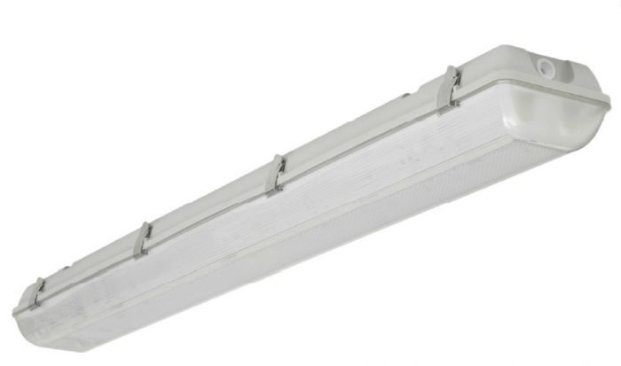 Louvers International 2 Lamp 4 Ft T8 Advantage Fluorescent Vapor Dust Water Proof Wet Location Fixture NSF IP66 Rated ADV4-P-2T8-20