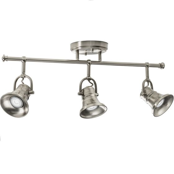 Lithonia Lighting LTFLSKT MR16GU10 LED 27K 3H BN M4 LED 3 Head Flare Skirt Fixed Track Lighting Kit