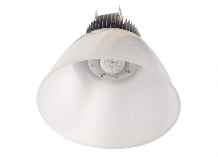 Louvers International 115 Watt DLC Listed Maven LED High Bay Light Fixture with Frosted Acrylic Reflector
