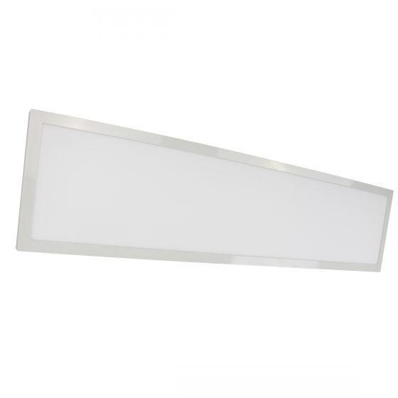 Satco Lighting 62-1154 45 Watt 1x4 Foot Linear LED Surface Mount Fixture Dimmable White Finish 5000K