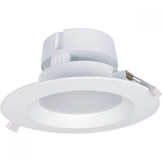 Satco Lighting S9026 9 Watt LED Direct Wire Downlight Fixture 120V Dimmable Frosted Finish 2700K