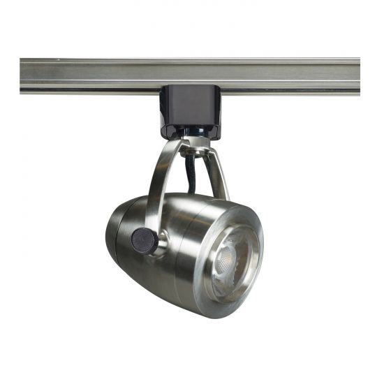 Satco Lighting TH415 12 Watt LED Track Head Light Fixture Brushed Nickel Finish 24 Degree Beam Angle Dimmable 3000k