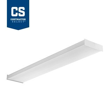 Lithonia Lighting SBL4 39 Watt 4 Foot Contractor Select White LED Surface Square Basket Wraparound Light Fixture 120-277V