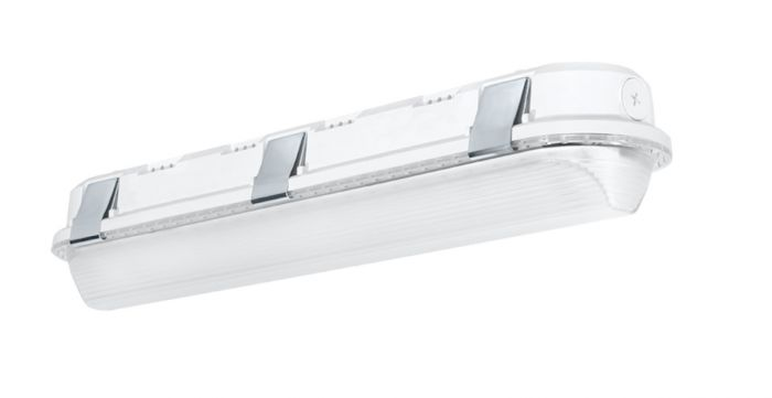 Main Image RAB Lighting SHARK2-25 25 Watt 2 Foot Impact Resistant LED Linear Washdown Dimmable Light Fixture 120-277V