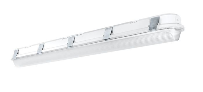 Main image RAB Lighting SHARK4-50 50 Watt 4 Foot Impact Resistant LED Linear Washdown Dimmable Light Fixture 120-277V