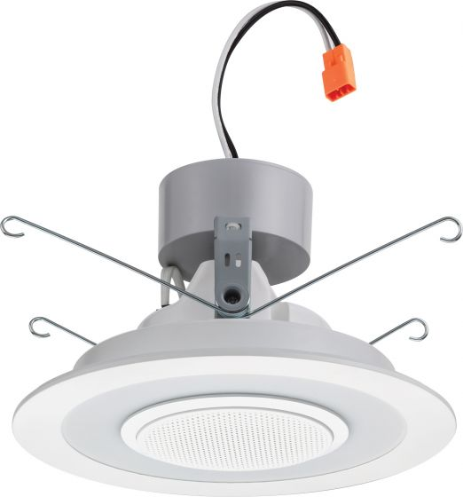 Lithonia Lighting 6SL RD 07LM LED Recessed Retrofit Downlight Module with Integrated Bluetooth Speaker 120V
