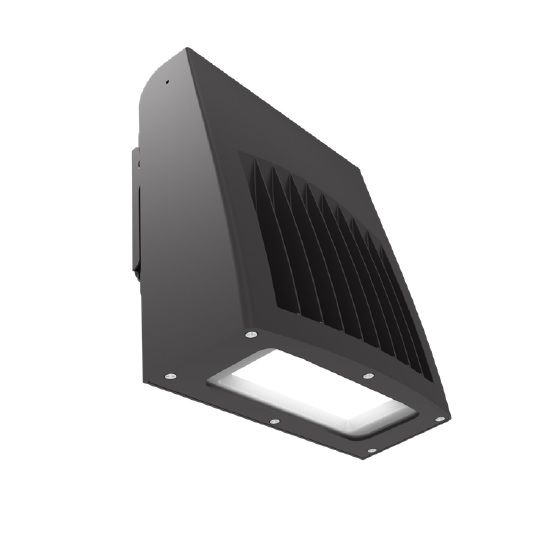 ILP SWP-10L-U-CCTS-BRZ 75 Watt Slim Wall Pack Selectable Color Temperature (3000K/4000K/5000K) Bronze Finish