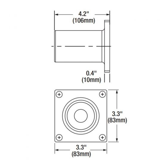Sylvania 60130 AREAFLD1A/WALLTENON/BZ Wall Tenon Mount for LED Area Light Fixture Compatible with Slip Fitter - 6 Pack