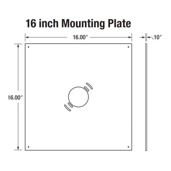 Sylvania 74745 GARAG1A/MTGPLATE/16/SV 16-Inch Mounting Plate Silver Painted Finish for LED Garage Fixture - 10 Pack