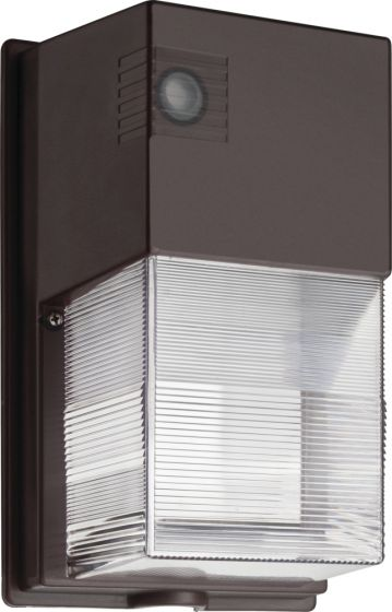 Lithonia Lighting TWS LED P1 50K MVOLT PE DDB M4 25 Watt DLC Qualified Dusk to Dawn LED Wallpack Fixture 5000K